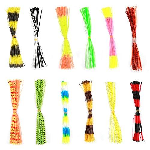 Alomejor 600fili gonna esche da pesca esca Squid rubber thread Fly Tying materiali gonne per pesca Outdoor fai da te di