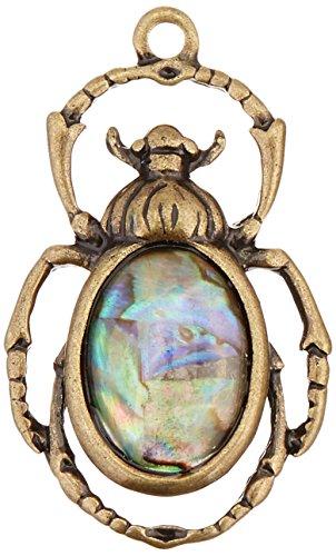Colgante macizo de escarabajo egipcio