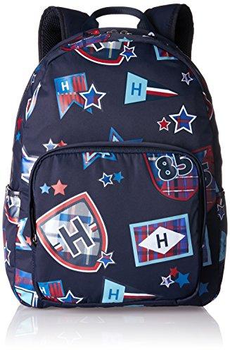 Tommy Hilfiger - Kids Th Patch Backpack M, Mochilas Niños, Blau (Printed Patch), 13x40x29 cm (B x H T)