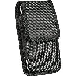 Kaufen iNNEXT iPhone 8/iPhone 76S Vertikal Gürtel Clip Case Gürteltasche für Samsung Galaxy S8Oxford Leinwand Klettverschluss Lasche vertikal/horizontal Fall mit Stahl Gürtelclip [11,9cm Bildschirm]