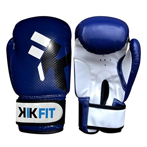 Guanti KIK FIT blu bambini Boxing Junior Sacco per il pugilato guanto di pelle, i bambini di...