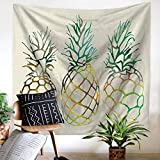 Daeou Tapiz Pared Piña tapices Living Sala Decorativos Frutas Colgar Pared casa Oficina Manta Dimensiones: 1.5 * 2m
