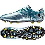 adidas PerformanceMessi 10.1 FG/AG - Scarpe da Calcio Uomo, Argento (Silber (Matte Ice Metallic/Bright Yellow/Core Black)), 40 2/3