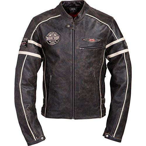 Spirit Motors Motorradjacke, Motorradschutzjacke Retro-Style Lederjacke 1.0, Herren, Chopper/Cruiser, Ganzjährig 1