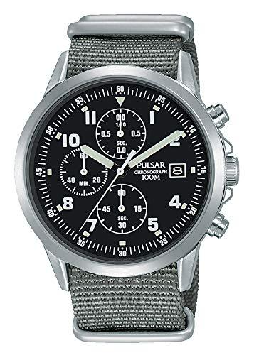 Uomo stile militare Pulsar cronografo PM3129x 1-formale e enhanced PJN305x 1