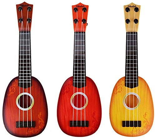 1 Piece Toy for Kids, Children Mini Musical Instrument Fun Educational Learn 4 String Guitar Xylophone Toys with Gift Box Birthday Gift for 2-4 Years Old Kids (Random Color AS PER Available )