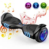 GeekMe 6,5-Zoll-Hoverboard-Elektroroller-intelligenter selbstausgleichender Roller eingebauter Bluetooth-Lautsprecher blinkende LED-Lichter für Kinder und Erwachsenen 2*350W