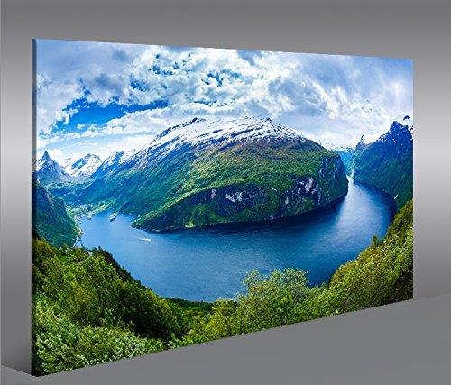 Quadro moderno Fiordi V2 Norvegia Stampa su tela - Quadro x poltrone salotto cucina mobili ufficio casa - fotografica formato XXL