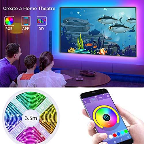 Strisce LED USB, retroilluminazione LED TV, con controllo da APP fino a 11,5 piedi (3,5 M) striscia...