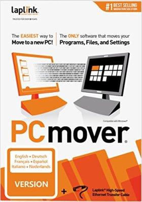Laplink PCmover Professional 11 avec cable haut-débit inclus (1 Utilisation) - La méthode la plus facile pour transférer vos fichiers vers un nouveau PC !