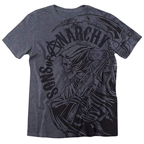 Vikkk Los Hijos de la anarquía temen a la segadora por Todo Heather T Shirt & Stickers, XL