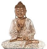 Windalf meditando Buda Sidd Hartha H: 22cm Decoración Figura Madera Mano de Madera