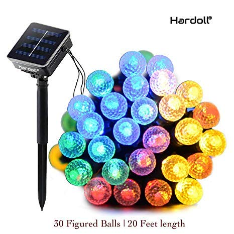 Hardoll 30 LED Solar String Decorative Figured Ball Diwali Decoration Strip ladi Light for Garden Home (Multicolor, 20 Ft)