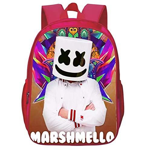 TREES Zaino per Laptop, 3D DJ Marshmallow Modello Resistente all'Acqua Libri degli Studenti Borse...