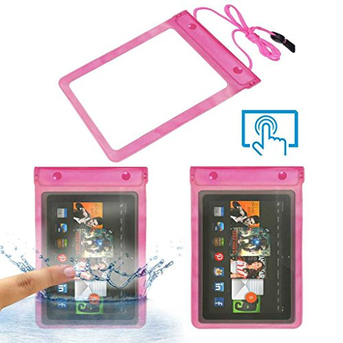 Acm Waterproof Bag Case Compatible with Amazon Kindle Fire Hdx 8.9 Tablet (Rain,Dust,Snow & Water Resistant) Pink