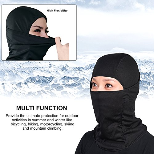 fornitore ufficiale il più votato a buon mercato come ottenere Magic Zone Passamontagna nero, Inverno Soft nylon antivento Maschera  Balaclava per uomo e donna