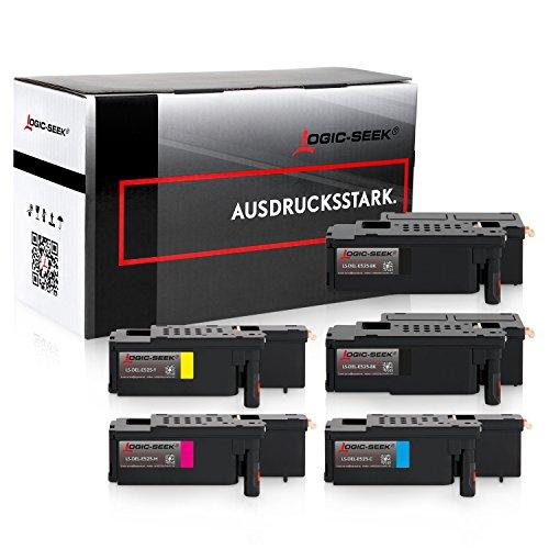 5 Logic-Seek Toner kompatibel zu Dell E525w LED-Farblaser-Multifunktionsdrucker
