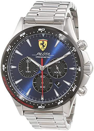 Scuderia Ferrari Orologio Cronografo Quarzo Uomo con Cinturino in Acciaio Inox 830598