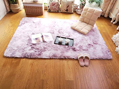 Ommda Tappeto Rettangolare Moderno Salotto Peloso Pelo Lungo Colorati Colore Gradiente tappeti...