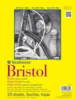 "Strathmore Bristol Vellum Paper Pad 9""X 12""-20 fogli"