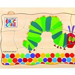 10431 Puzzle a strati Bruco Maisazio small foot in legno, 5 strati con diversi motivi, da 3 anni in