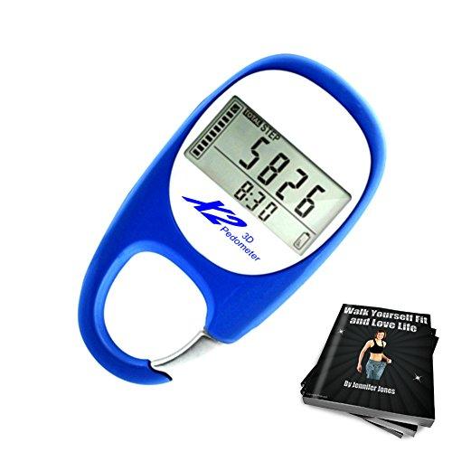 X2 Innovations pedometro tascabile digitale per le tue passeggiate, contare i passi e tracciare le...