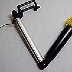VOVOIR Creative Monopod Aleación de Aluminio SelfieMic Selfie Micrófono Stick para Vocal / DJ / Cantante / Karaoke (Gold)