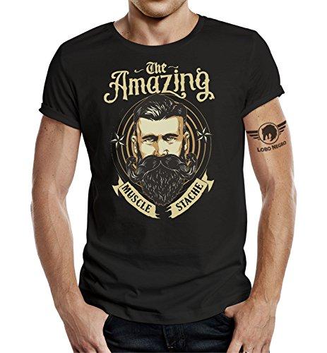LOBO NEGRO - Maglietta da Barba: The Amazing Beard-M