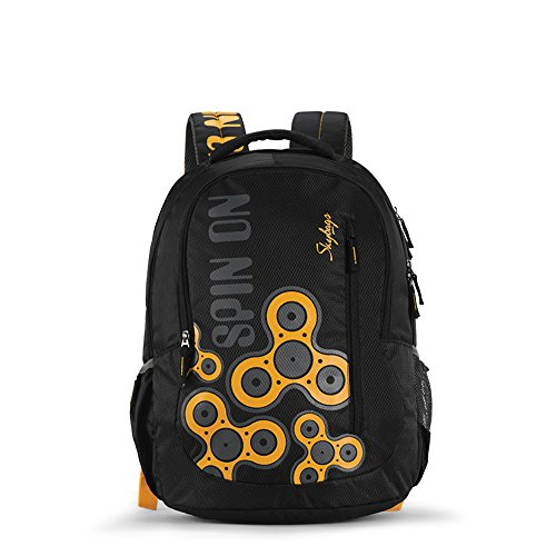 Skybags Bingo 31.878 Ltrs Black School Backpack (SBBIN03BLK)