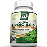 BRI Nutrition Alpha Lipoic Acid 250mg 120 Count Veggie Capsules - Universal Antioxidant High Potency - 120 Servings