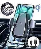 VANMASS Automatisch Wireless Charger Auto Handyhalterung Elektronisch Motor Betrieb 10W Fast Charging Extra Stabil Lüftung Qi Ladestation Auto für iPhone XS/X/8 Galaxy S10/S10 /S9/S8, Andere Qi Geräte