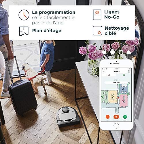 51HwJL3jZlL [Bon Plan Ecovacs] Neato Robotics D750 Aspirateur Robotique Premium Pack avec Accessoires Exclusifs pour Animaux Domestiques, Robot Aspirateur pour le Nettoyage des Coins, Tapis et Sols Durs, Compatible avec App/Alexa