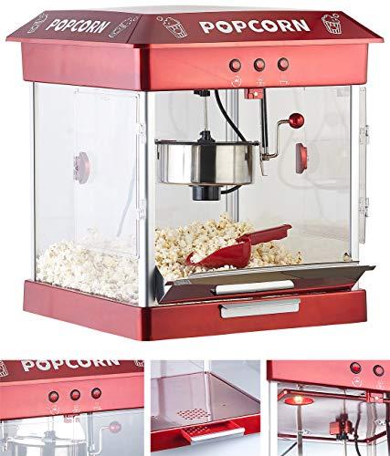 Rosenstein & Söhne Popkornmaschine: Profi-Gastro-Popcorn-Maschine mit Edelstahl-Topf, 800 Watt (Retro-Popcorn-Maschine)
