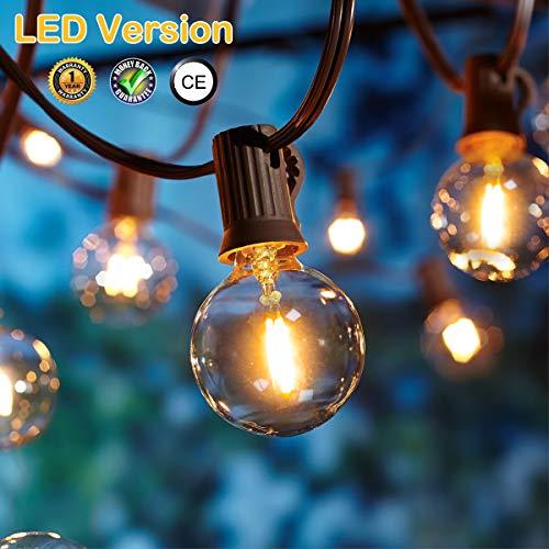 OxyLED Catene luminose,[LED Versione] G40 7.62metri 12 lampadine luci all'aperto della corda del...