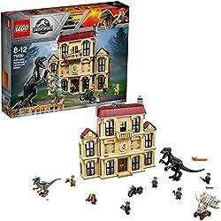 LEGO Jurassic World - Caos del Indorraptor en la Mansión Lockwood, Set de Construcción con Dinosaurios de Juguete (75930)