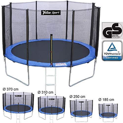 YELLOO YellooSport Trampolino Tappeto Elastico Giardino Salto Bambini Diametro 185 250 310 370 cm...