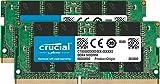 Crucial CT2K16G4SFD824A 32 GB Kit (16 GB x2) (DDR4, 2400 MT/s, PC4-19200, Dual Rank x8, SODIMM, 260-Pin) Memory