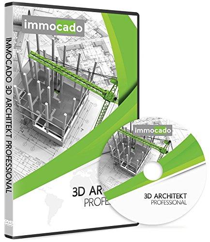Immocado 3D Architekt Professional - 3D Hausplaner Architektur Software / 2D Grundriss Programm mit...