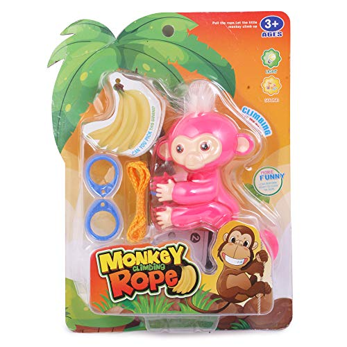 Chocozone Rope Climbing Monkey Toy with Music & Lights Toys for Kids ( Pink)