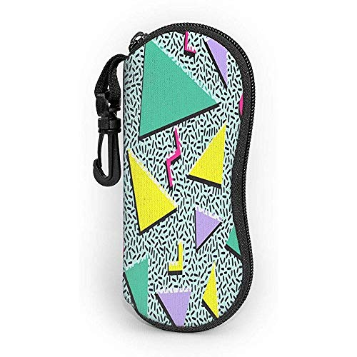 Ralapmill Funky 90s Patterns Retro Vintage 80S 90S Custodia per occhiali Custodia per occhiali ultra...