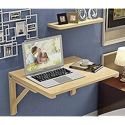 SHELFDQ Mesa Plegable Plegable suspendida Mesa de Comedor Mesa de Comedor Espacio ahorrador Plegable Escritorio Convertible Moderno (Color : Color Madera, Tamaño : 100 * 40cm)
