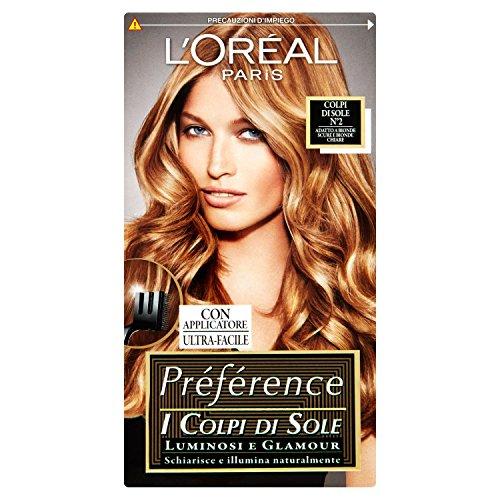 L'Oréal Paris Préférence Colpi di Sole Capelli Luminosi e Glamour, 2 Bionde Scure e Chiare