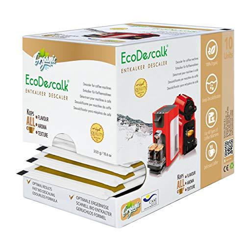 EcoDescalk Biologico in Polvere, 10 Sacchetti. Decalcificante 100% Naturale. Detergente per Macchine...