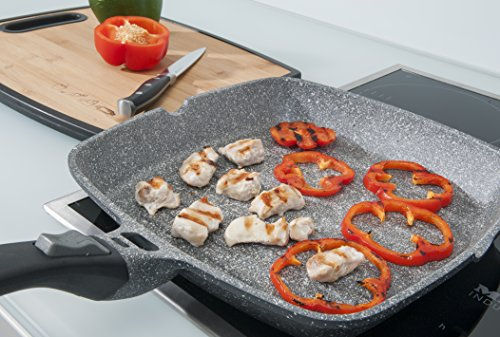 The Griddle Pan by Coninx With ILAG Granistone Coating makes a great replacement to kitchen paraphernalia in any home. For one, it can be used on any heat source and second, it can cook inside an oven or under a grill. The health aspect is another reason as to why you should consider this griddle pan; it's made from PFOA-free materials. The size of the pan is also something that those with families will really appreciate. Except the price, everything else on this pan is nice.