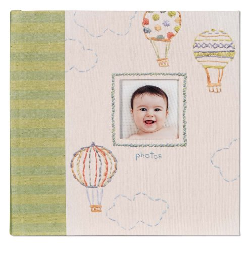 CR Gibson Slim Gebundenes Baby-Foto-Journal-Album - Neugeborenes Baby-Geschenk-Set/Andenken / GED?chtnis Buch/Baby-Journal