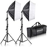Neewer 10086584 - Kit de iluminación para Retratos, Fotografía y Grabación de Vídeo, 700 W, Fotografía 60 x 60cm, Enchufe E27
