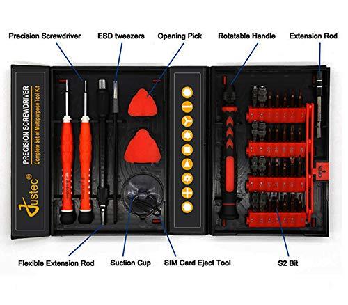 Justec 38 PCs Screwdriver Set Repair Tool Kit for Glasses, Jewelry, Watch, MacBook, iPhone, Tablet, PC, Camera, Clock, Game Console, etc