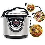 Cecotec Ollas GM Modelo D - Robot de cocina programable multifunción, 90 Kpa, 9 menús, 1000W