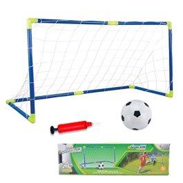AnJanLe Set di mini porta da calcio automontanti con palla e pompa, da giardino, Calcetto Pallone per bambini , 120 x 62 x 46 cm