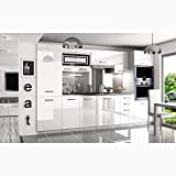 JUSTyou Syntka Pro LED Cocina completa 300 cm Color: Blanco Brillante